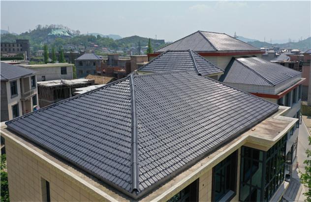 别墅树脂瓦屋顶